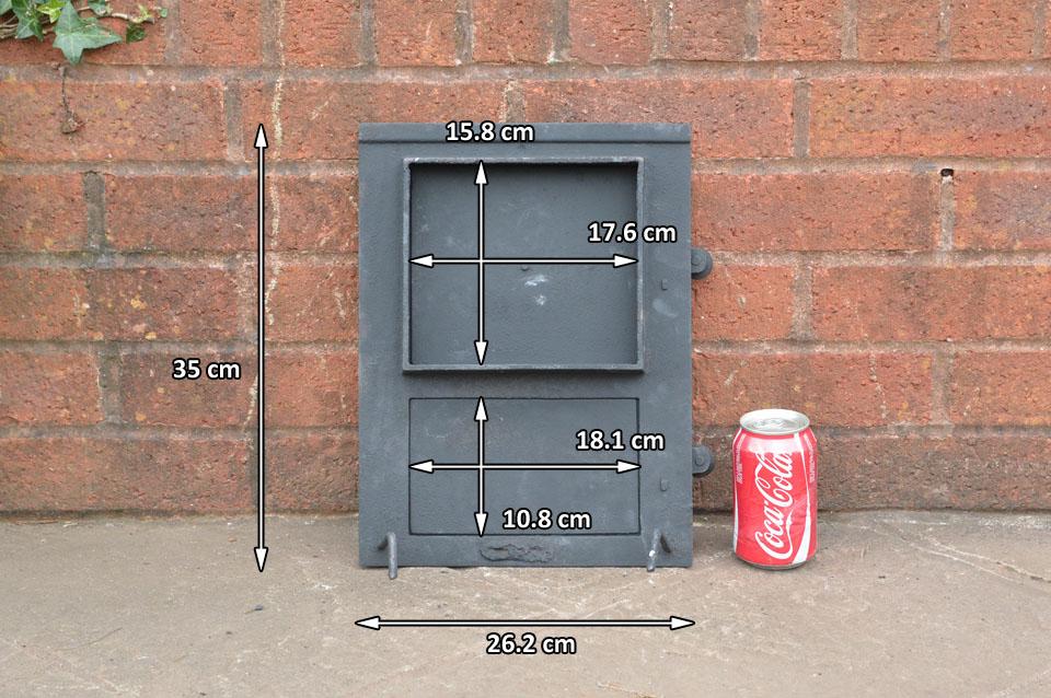 26 2 x 35 cm old cast iron fire door clay bread oven doors for Door 2 door pizza