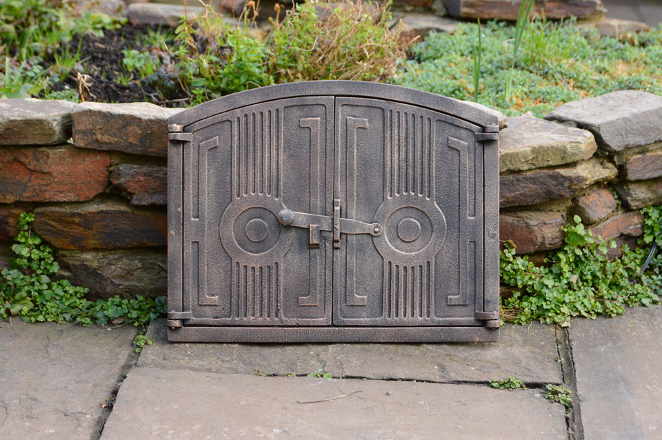 Cast Iron Fireplace Doors : Cm cast iron fire door clay bread oven doors