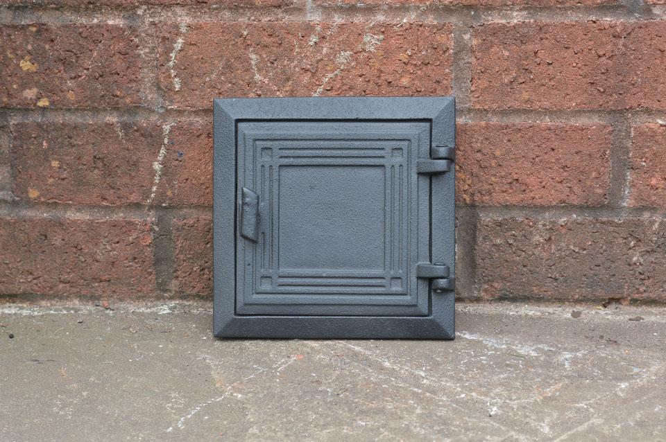 Cast Iron Fireplace Doors : Cast iron flue fire door clay bread oven pizza