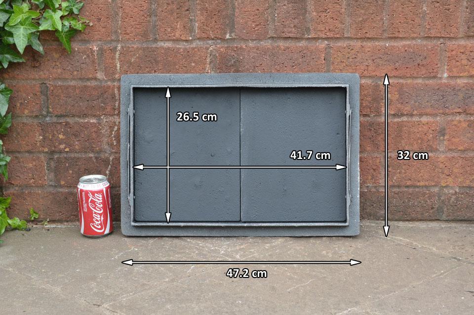 47 2 x 32 cm cast iron fire door clay bread oven doors for Door 2 door pizza