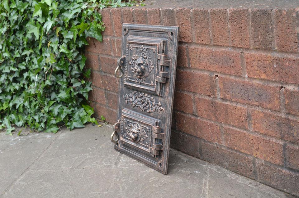 30 4 x 44 8 cm cast iron fire door clay bread oven doors for Door 2 door pizza