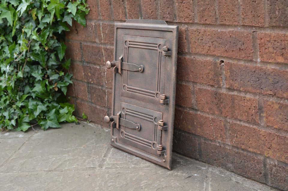 29 x 39 5 cm cast iron fire door clay bread oven doors for Door 2 door pizza