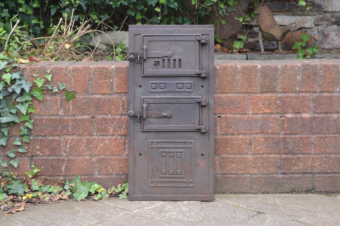 62 8 x 30 2 cm old cast iron fire bread oven door doors for Door 2 door pizza