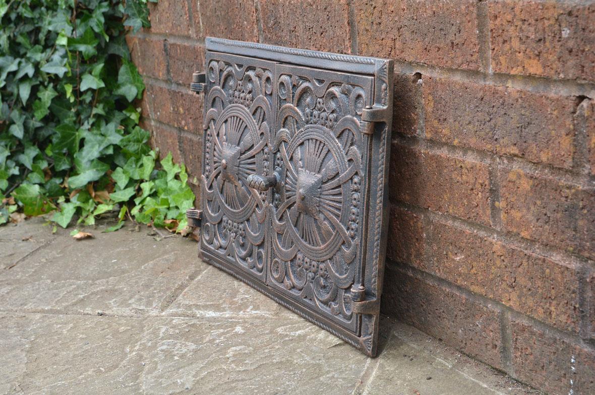 45 x 31 5 cm cast iron door clay bread oven doors