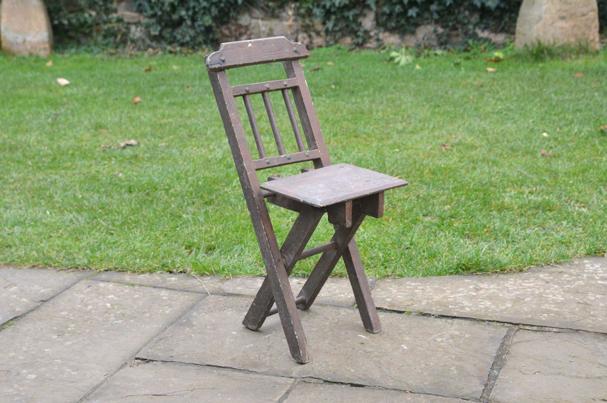 vintage wooden folding chair childs chair old small chair FREE DELIVERY