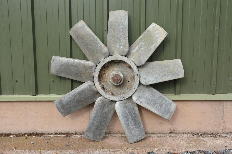 Industrial Fan Blades : Metal fan blade vintage industrial wind turbine blades