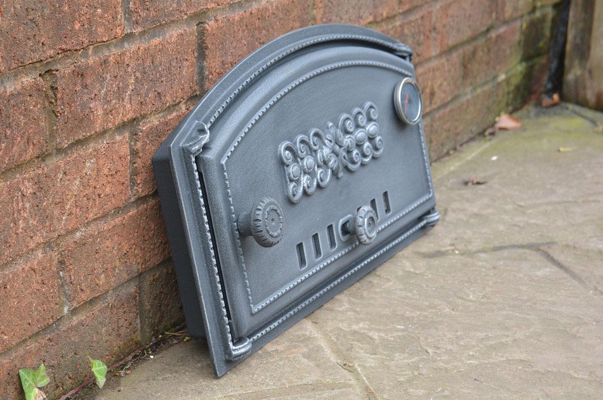 49 x 27 5 cm cast iron fire door clay bread oven doors for Door 2 door pizza