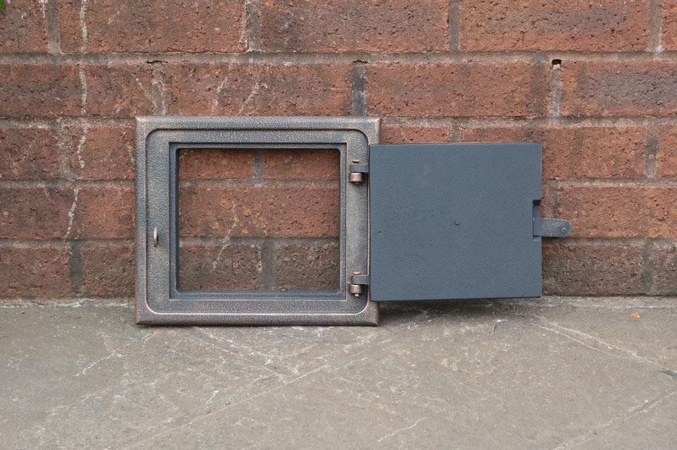28.3 cm x 24.1 cm cast iron fire door clay//bread oven door//pizza smoke house