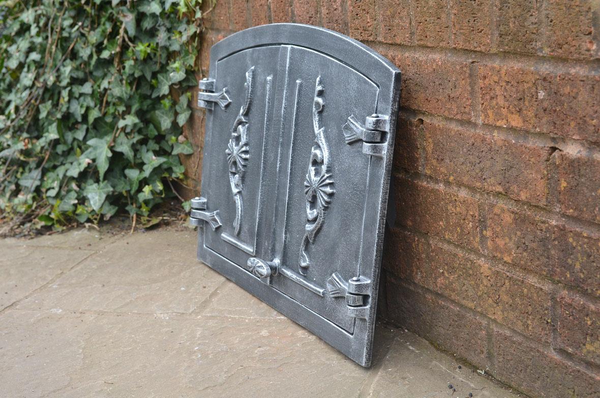 54 8 x 40 5 cm cast iron fire door clay bread oven doors for Door 2 door pizza